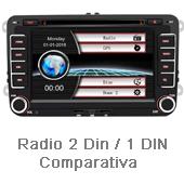 radio 2 din - radio 1 din