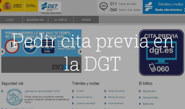 Pedir cita previa en la DGT